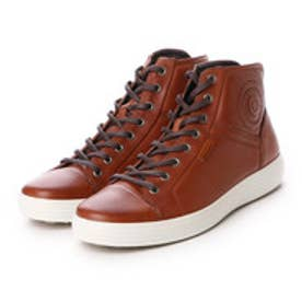 エコー ECCO ECCO Mens Soft 7 High Top (MAHOGANY)