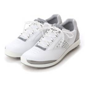 エコー ECCO ECCO WOMEN'S GOLF BIOM HYBRID 2 (WHITE/BUFFED SILVER)