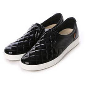 エコー ECCO ECCO Soft 7 Quilted Slip On (BLACK/BLACK)