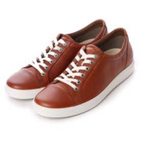 エコー ECCO ECCO Womens Soft 7 Sneaker (MAHOGANY)
