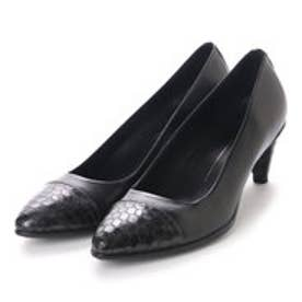 エコー ECCO Shape 45 Pointy Sleek (BLACK/BLACK-BUFFED SILVER)