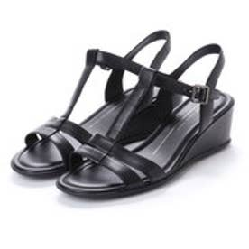 エコー ECCO Shape 35 Wedge T-Strap (BLACK/BLACK)