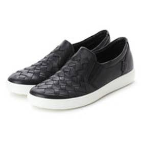 エコー ECCO Womens Soft 7 Woven (BLACK)