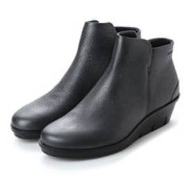 エコー ECCO Skyler Wedge Bootie (BLACK/DARK SILVER)