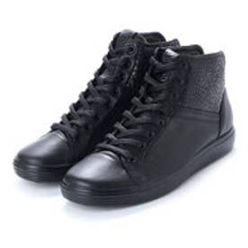 エコー ECCO Womens Soft 7 Lace High (BLACK/BLACK)