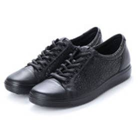 エコー ECCO Womens Soft 7 Lace (BLACK/BLACK)