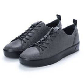 エコー ECCO Womens Soft 8 Sneaker (BLACK)