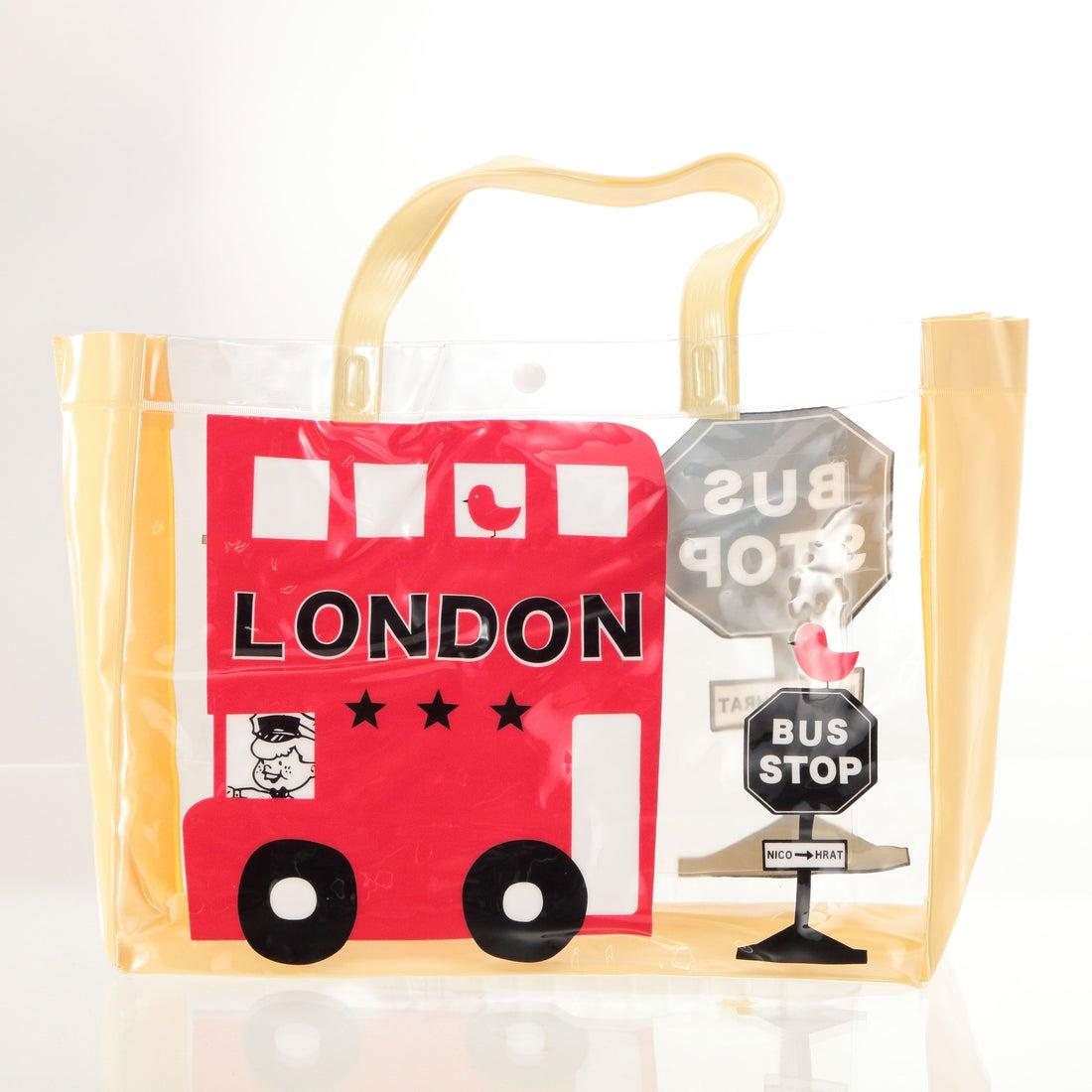 ノーブランド No Brand ニコフラート nico hrat ロンドンバス ビーチバッグ (NO298007.ロンドンバス)