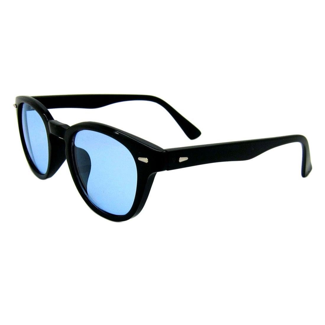 ノーブランド No Brand サングラス sunglass 5005 (ブラック/ライトブルー)