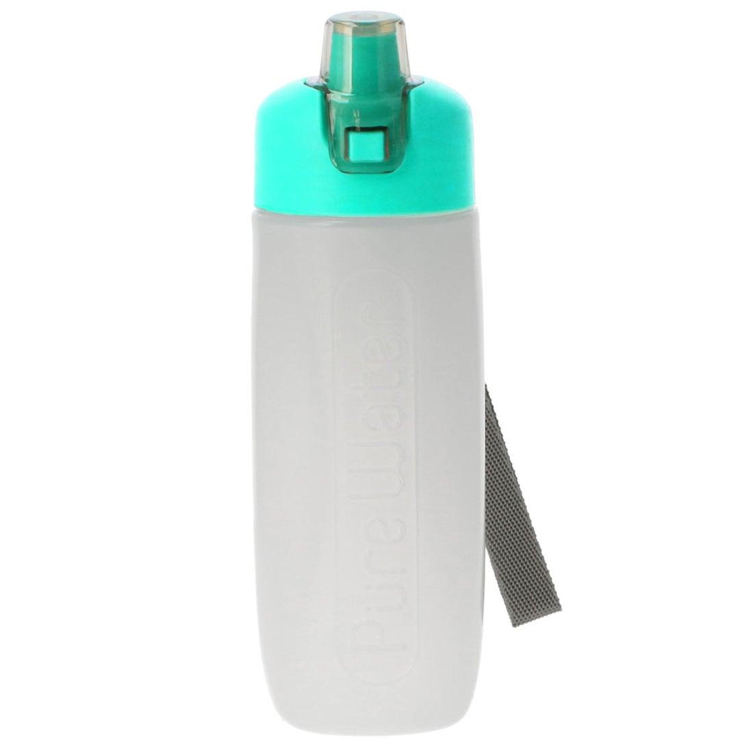 ノーブランド No Brand 携帯用浄水ボトル ピュアウォーター (エメラルドグリーン)