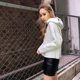 エゴイスト EGOIST フロントZIPフェイクレザースカート (BLACK)