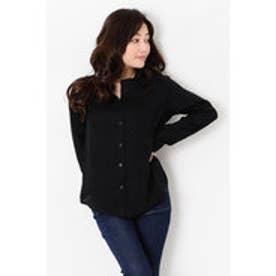 エゴイスト EGOIST スタンドカラーシャツ (BLACK)