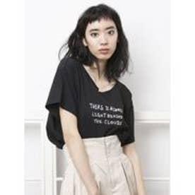 EMODA レイヤーロゴTシャツ(ネイビー)