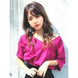 EMODA ネックライン2WAYTシャツ(ピンク)