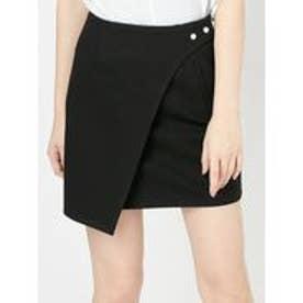 EMODA Wラップデザインスカート(ブラック)