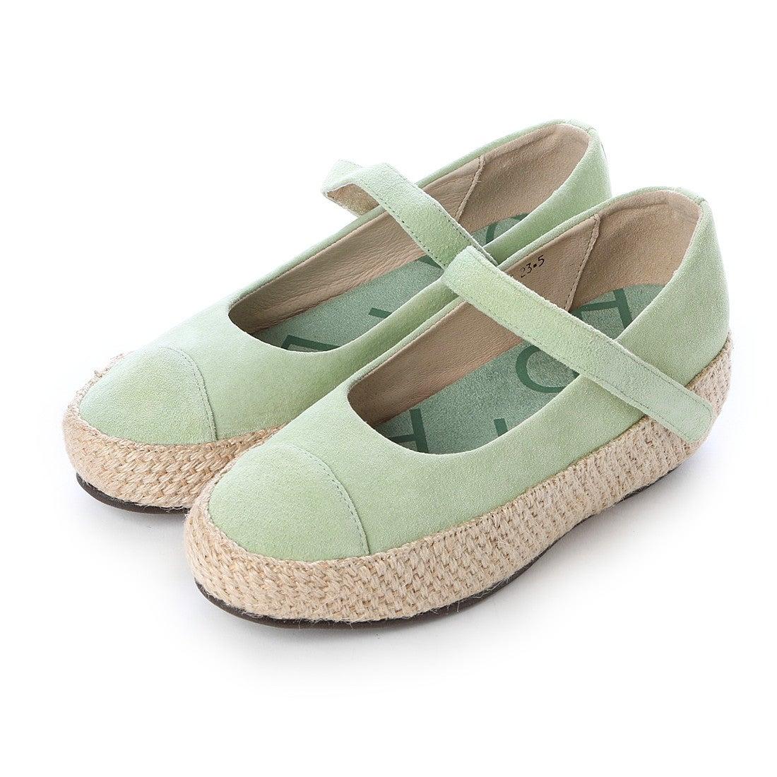 【SALE 70%OFF】ヒナデイグリーン Hina Day Green ジュート巻きプラットフォームパンプス (ミントグリーン) レディース
