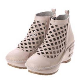 ヒナグリーンレーベル Hina GreenLabel ヒナグリーンレーベルパンチングファスナー付ブーツ (ライトグレー)