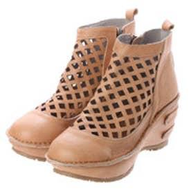 ヒナグリーンレーベル Hina GreenLabel ヒナグリーンレーベルパンチングファスナー付ブーツ (キャメル)