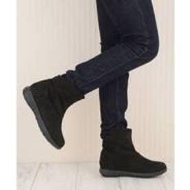 ヌーベルヴォーグ リラックス NOUBEL VOUG Relax 履き口ゆったりショートブーツ (ブラック)