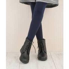ヌーベルヴォーグ リラックス NOUBEL VOUG Relax ナチュラル系の編み上げブーツ ショートブーツ (ブラック)