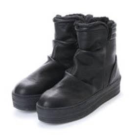 ヌーベルヴォーグ リラックス NOUBEL VOUG Relax 美脚ハイカット厚底 あったかスニーカー ブーツ (ブラック)