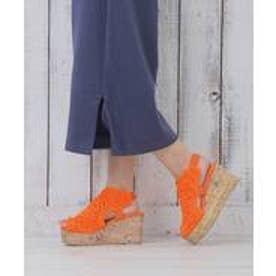 ヌーベルヴォーグ リラックス NOUBEL VOUG Relax 手編みウェッジサンダル (オレンジ)