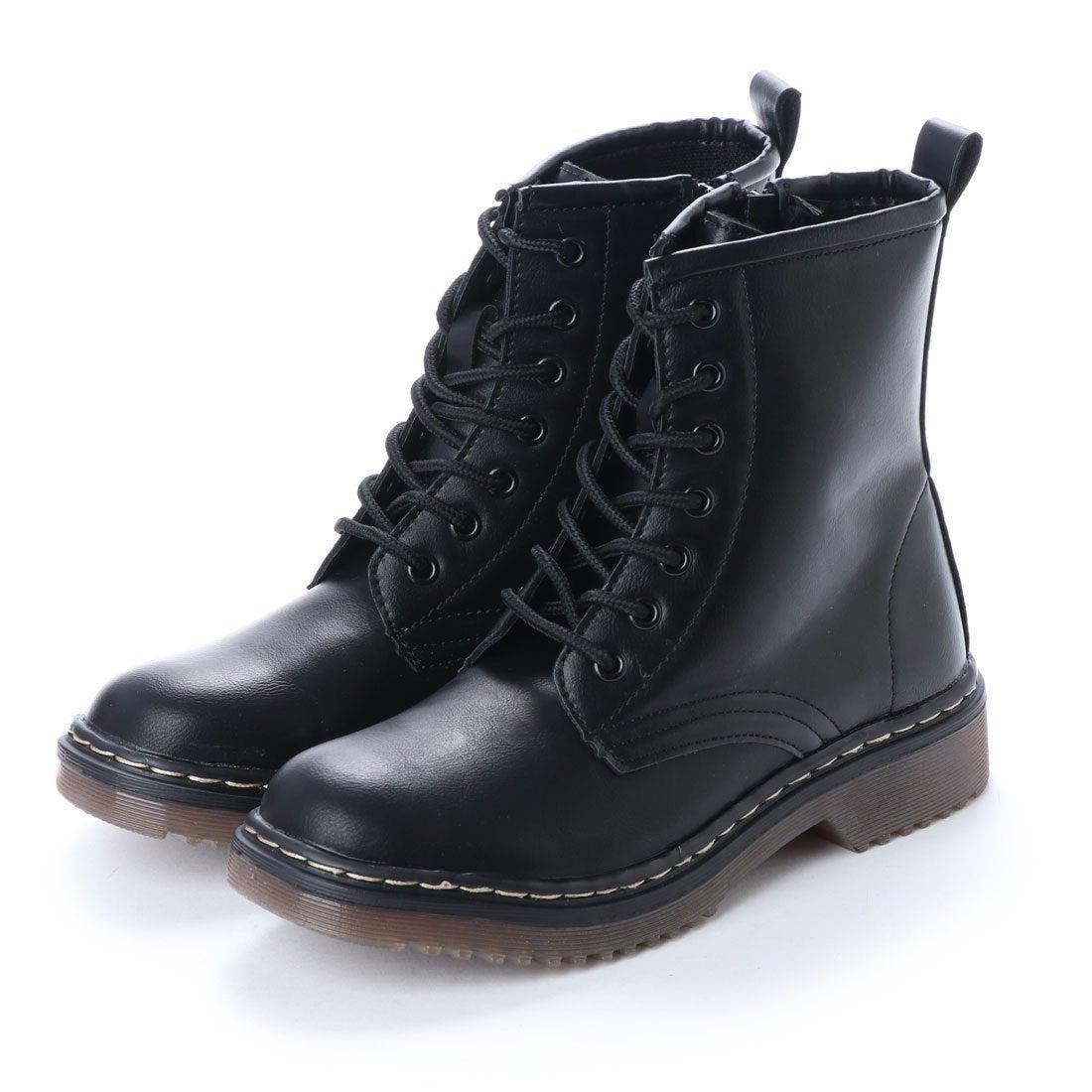 ロコンド 靴とファッションの通販サイトスクランブル scramble 7ホールレースアップワークブーツ エンジニアブーツ レースアップ 春 ブーツ (ブラック)
