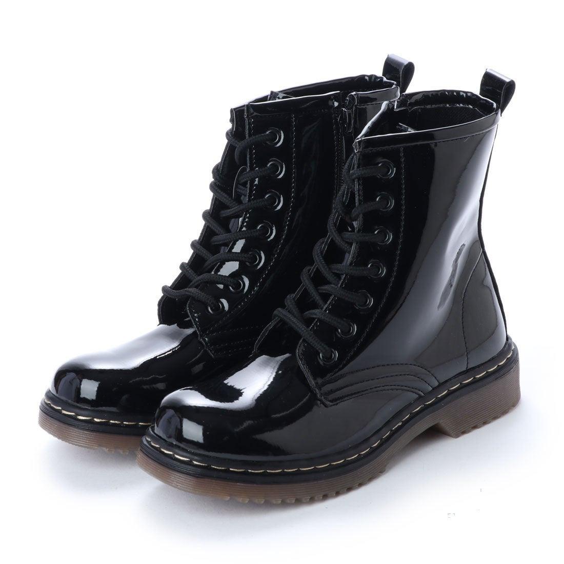 ロコンド 靴とファッションの通販サイトスクランブル scramble 7ホールレースアップワークブーツ エンジニアブーツ レースアップ 春 ブーツ (ブラック/エナメル)