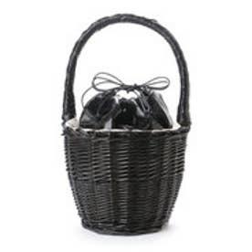 【EVOL】ILIMA Casselini メタリック巾着かごバッグ (ブラック)