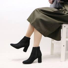 プレーンショートブーツ MJ5001 (ブラックスエード)