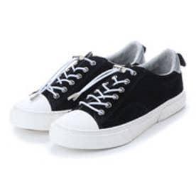 スラック SLACK [SLACK FOOTWEAR]  (PREMIUM SUEDE) クルード スエード スニーカー (BLACK/WHITE)