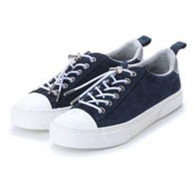 スラック SLACK [SLACK FOOTWEAR]  (PREMIUM SUEDE) クルード スエード スニーカー (NAVY/WHITE)