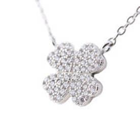 フォリフォリ Folli Follie WINTER HEARTS Fashionably Silver Heart 4 Heart Love クローバーネックレス/シルバー