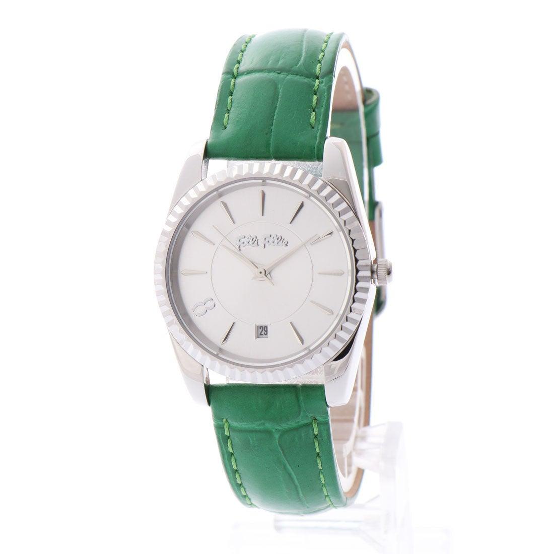 7844e84314 フォリフォリ Folli Follie CHRONOS TALES レザーベルトウォッチ/腕時計 (グリーン) -靴&ファッション通販  ロコンド〜自宅で試着、気軽に返品
