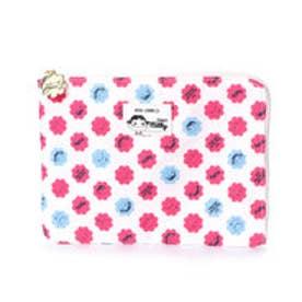コムサイズム COMME CA ISM MONO 不二家 ペコちゃんコラボ ミルキー包み紙柄が かわいい フラットポーチ (ピンク)