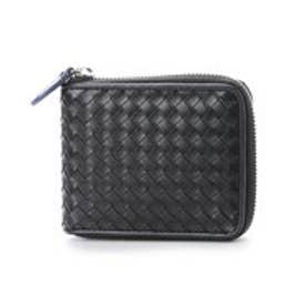 コムサイズム COMME CA ISM ラウンド2つ折り財布 (ブラック)