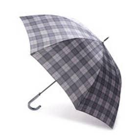コムサイズム COMME CA ISM タータンチェックプリント長傘(メンズ) (チャコール)