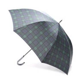 コムサイズム COMME CA ISM タータンチェックプリント長傘(メンズ) (ネイビー)