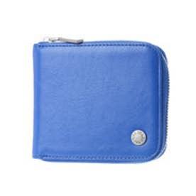 コムサイズム COMME CA ISM MONOラウンドファスナー2つ折り財布 (ブルー)