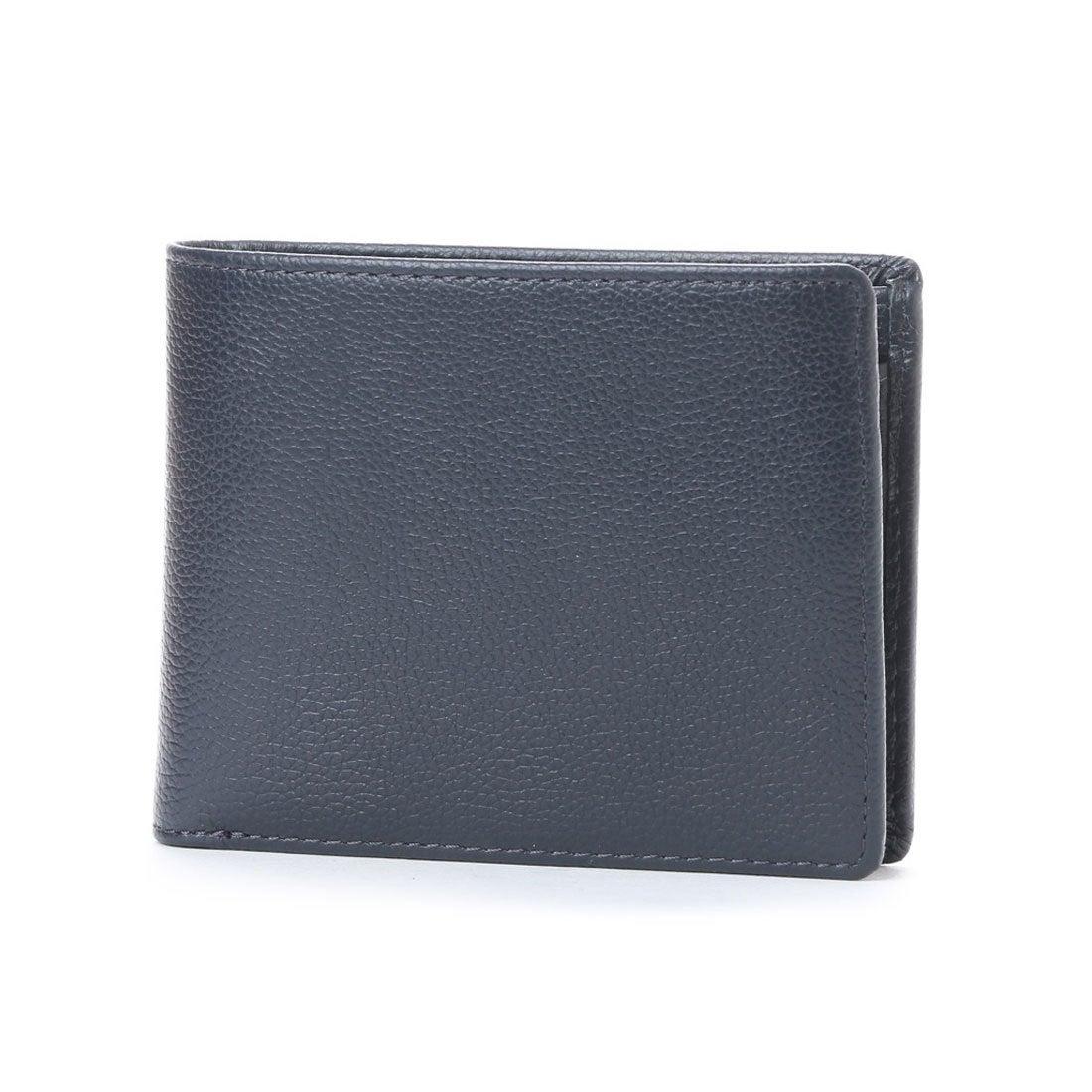 コムサイズムCOMMECAISMMONO2つ折り財布(ネイビー)