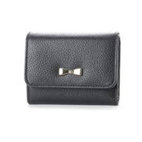 コムサイズム COMME CA ISM MONO3つ折りコンパクト財布 (ブラック)