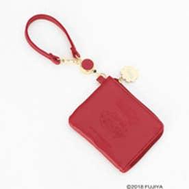 コムサイズム COMME CA ISM MONO 不二家 ペコちゃんコラボ お出掛けに便利な リール付き パスケース付き コンパクト財布 (レッド)