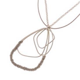 コムサイズム COMME CA ISM 糸巻きパーツネックレス (ゴールド)