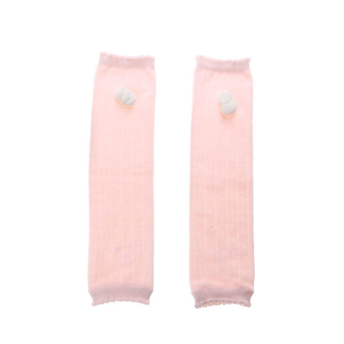 コムサイズム COMME CA ISM 針抜き柄レッグウォーマー (ピンク)