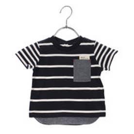コムサイズム COMME CA ISM フェイクレイヤード半袖Tシャツ (ボーダー)