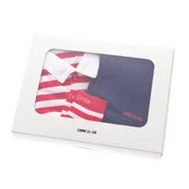 コムサイズム COMME CA ISM 1・2歳頃用ボーダーTシャツギフトセット (レッド)