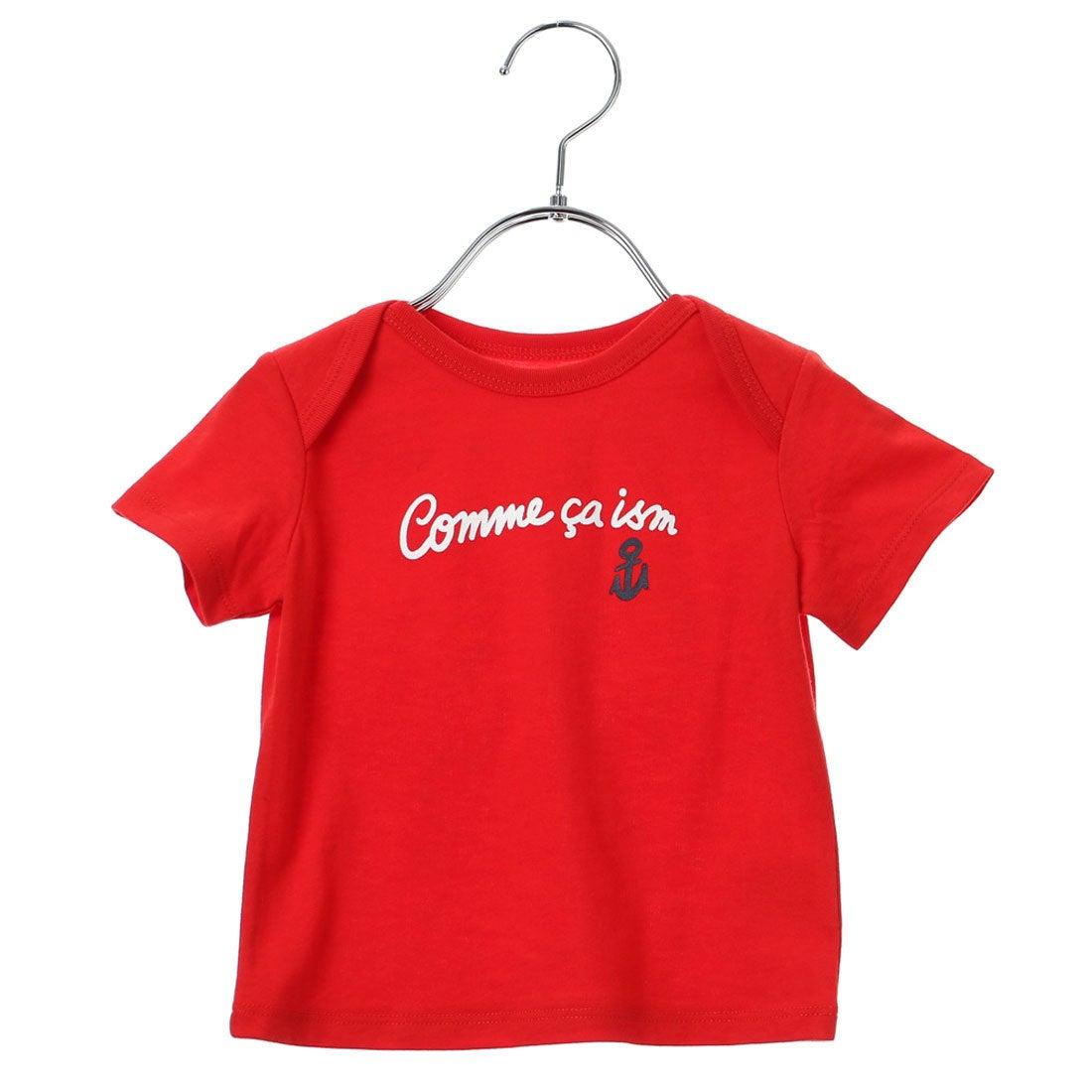 990f4761f0e78 コムサイズム COMME CA ISM ロゴ入り半袖Tシャツ (レッド) -アウトレット通販 ロコレット (LOCOLET)