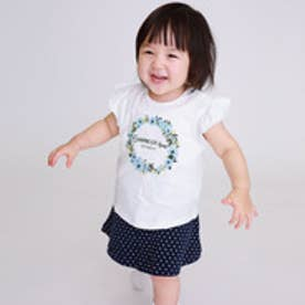 コムサイズム COMME CA ISM フラワーリースギフトセット(1・2歳頃女の子用) (ホワイト)