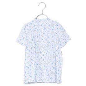 コムサイズム COMME CA ISM 小花プリントシャツドレス (ホワイト)