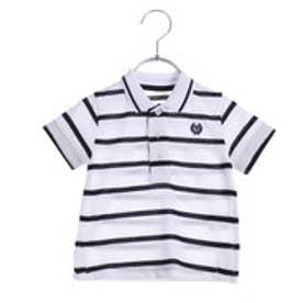 コムサイズム COMME CA ISM ボーダーポロシャツ(ベビーサイズ) (ホワイト)